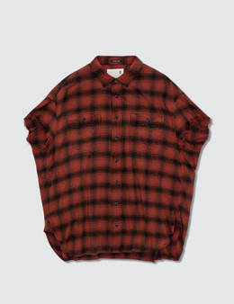 R13 R13 Oversized Check Shirt