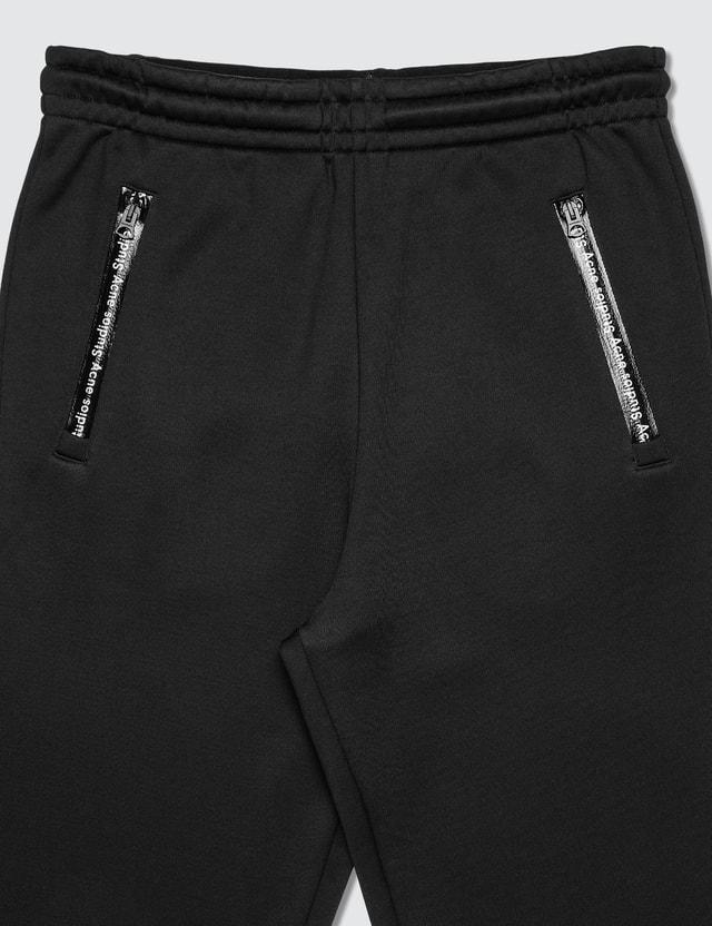 Acne Studios Technical Logo Zip Sweatpants Black Men