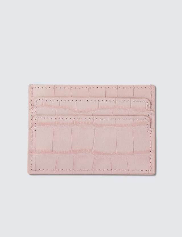 Alexander McQueen Croco Embossed Card Holder
