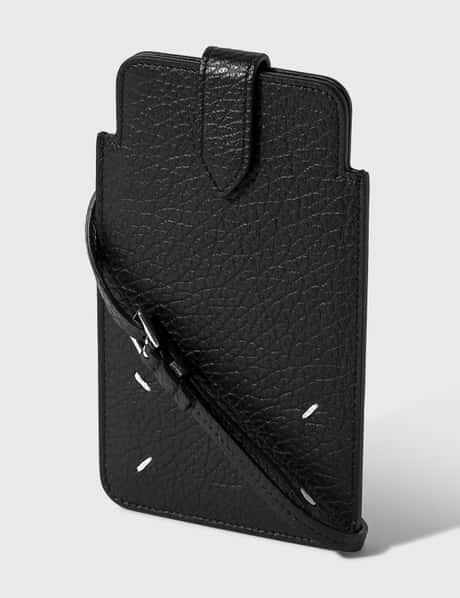 메종 마르지엘라 그레이니 폰 파우치 Maison Margiela Grainy Embossed Leather Phone Pouch
