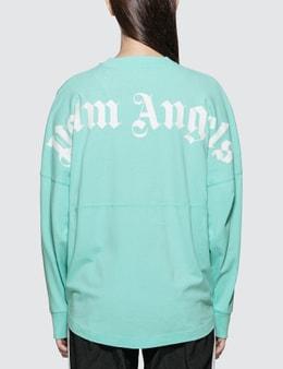 Palm Angels Logo Over Long Sleeve T-shirt