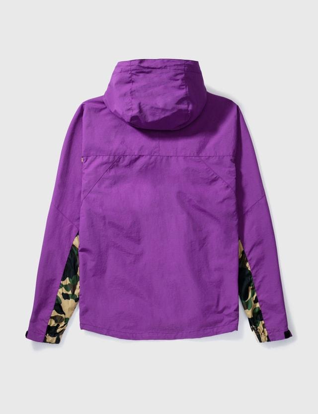 BAPE Bape Nylon Windbreaker With Camo Sleeves Purple Archives