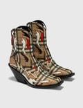 Burberry Topstitch Appliqué Vintage Check E-canvas Boots Picutre