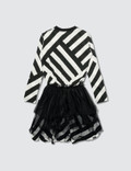 NUNUNU Striped Tulle Dress