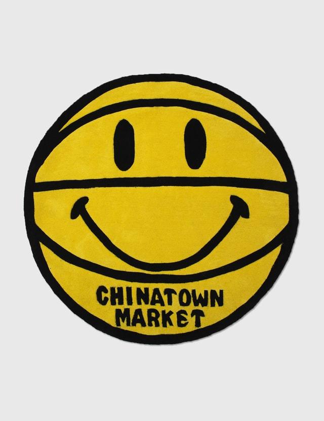 Chinatown Market 스마일리 농구공 러그 4FT Yellow Men