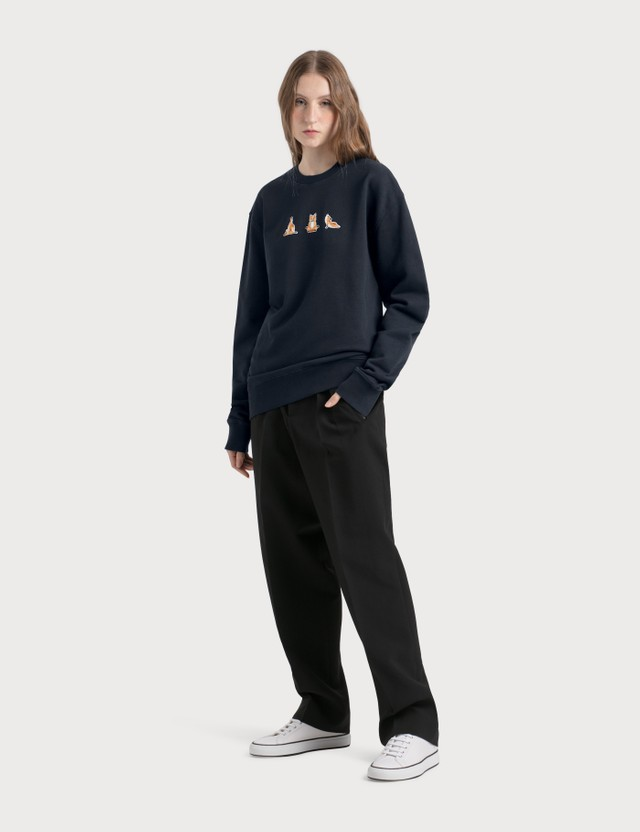 Maison Kitsune Yoga Fox Patches Sweatshirt