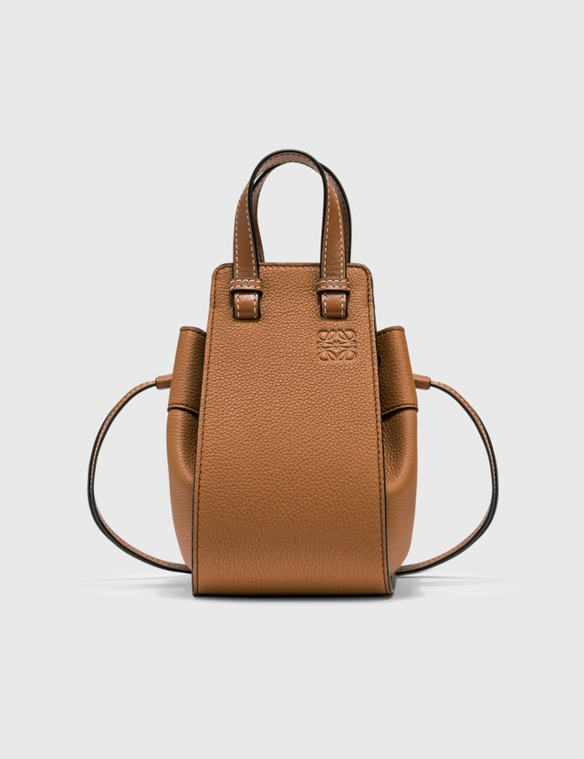 Loewe Mini Hammock Drawstring Bag Light Caramel Women