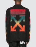 Off-White Diag Brushed Mohair Crewenck Sweater =e40 Men