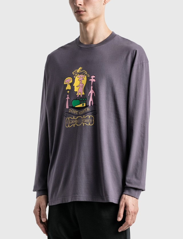 Brain Dead Ants Long Sleeve T-Shirt Purple Men