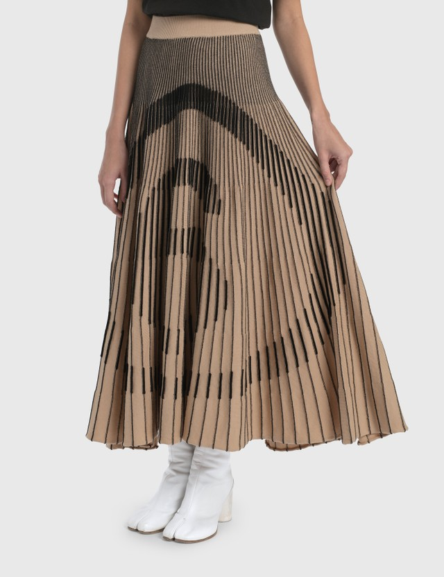 MM6 Maison Margiela Logo Pleated Skirt