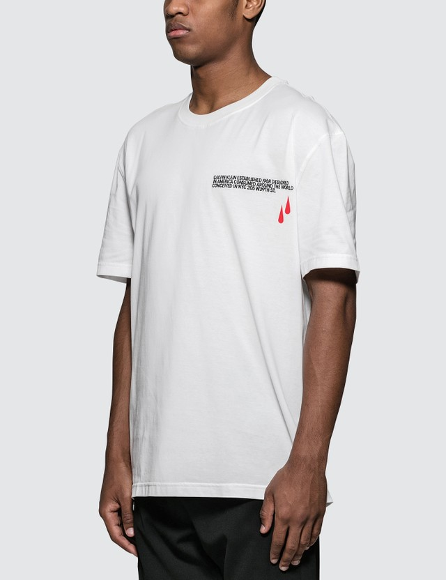 Calvin Klein 205W39NYC Blood-drop logo print S/S T-Shirt in White