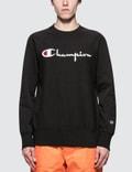 Champion Reverse Weave Script Logo Sweatshirt Picutre