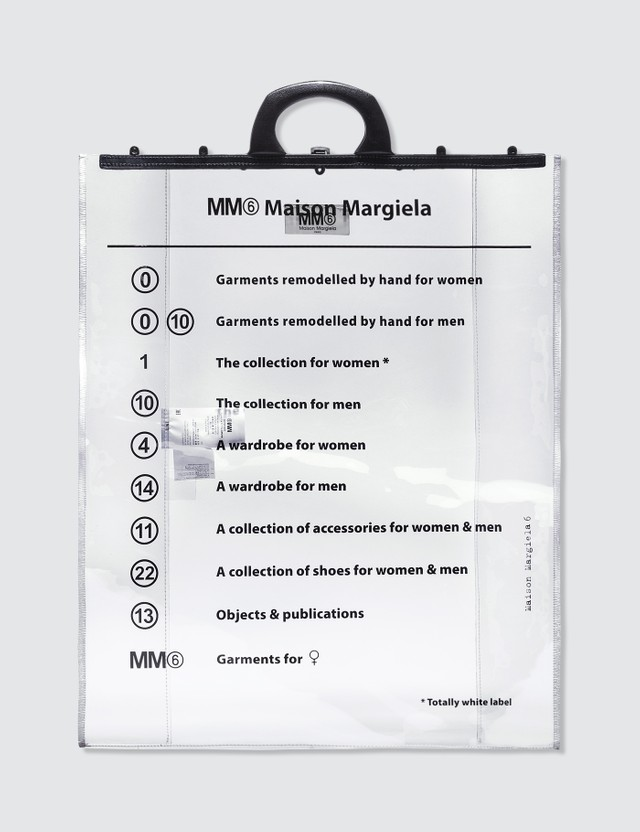 MM6 Maison Margiela Transparent Logo Bag