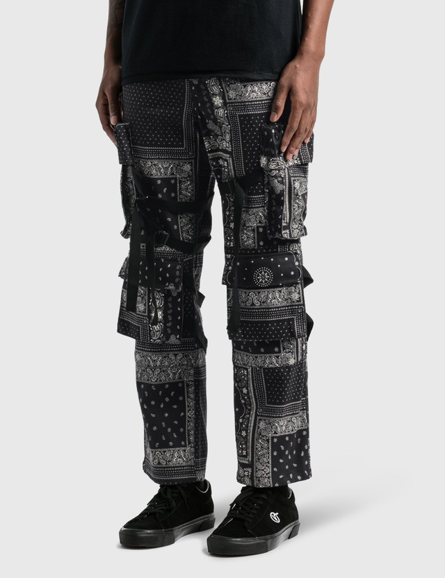 Rogic Paisley Cargo Pants Blk / Wht Men
