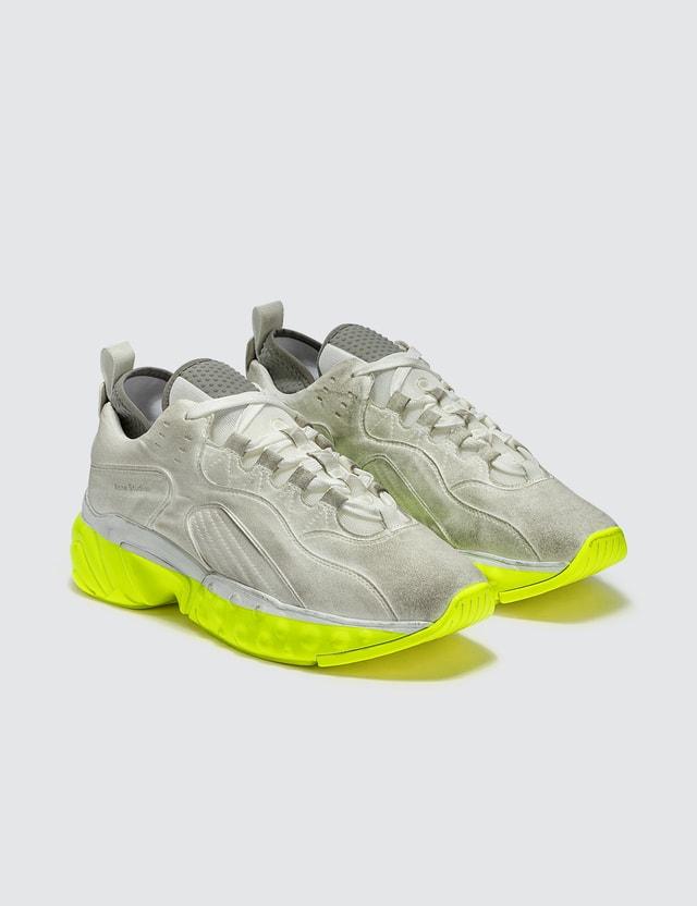 Acne Studios Rockaway Dip Sneakers White/yellow Men
