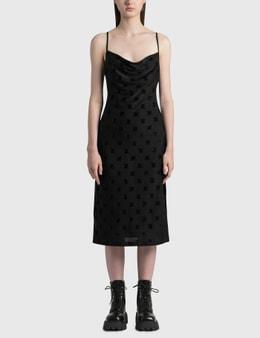 Misbhv Velour Monogram Slip Dress