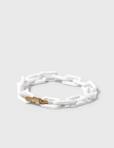 오프화이트 Off-White Acetate Gold Chain Necklace