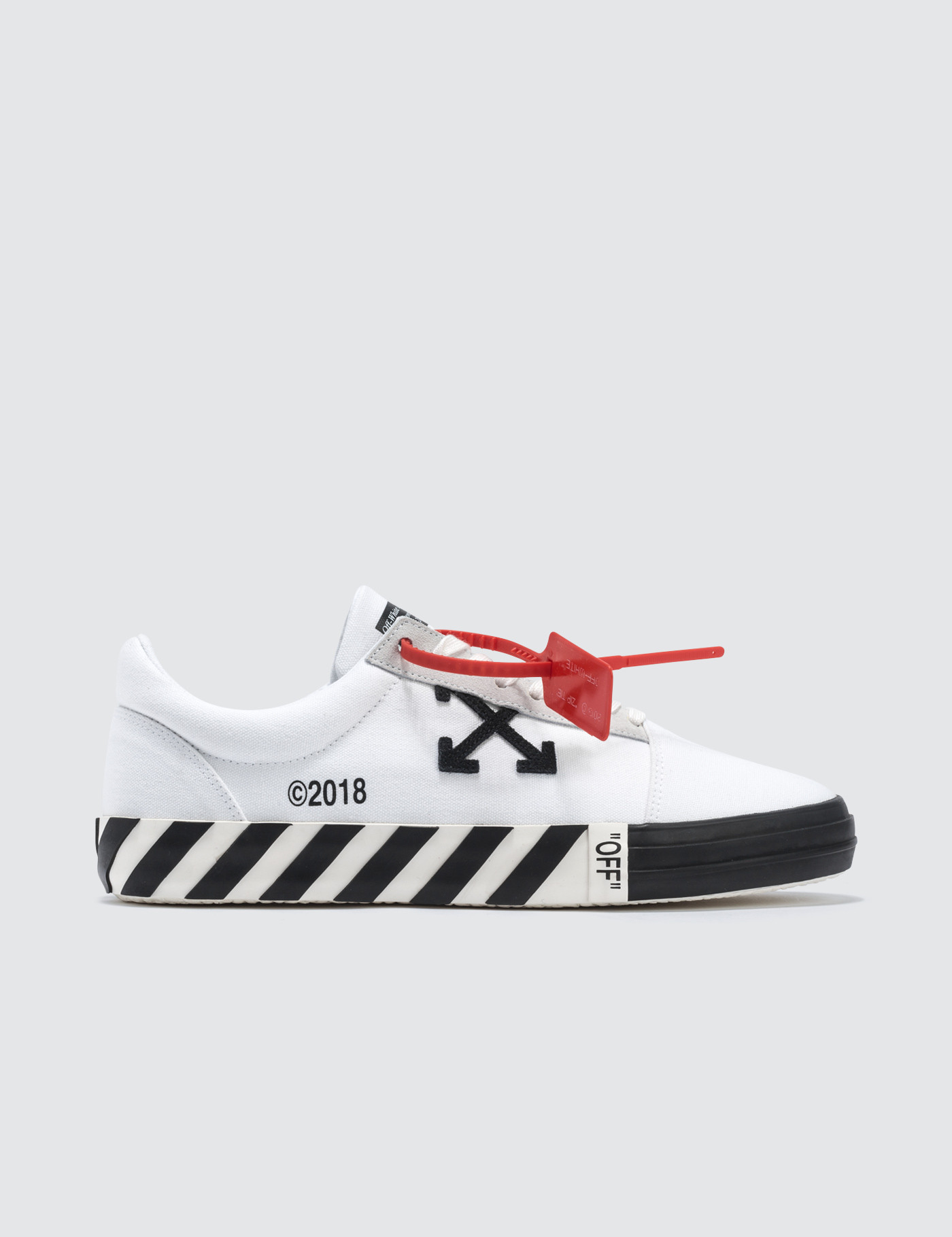 Off-White - Vulcanised Striped Low Top