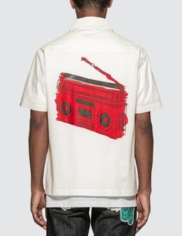 Billionaire Boys Club Chenill Patch Dollar Open Collar Shirt