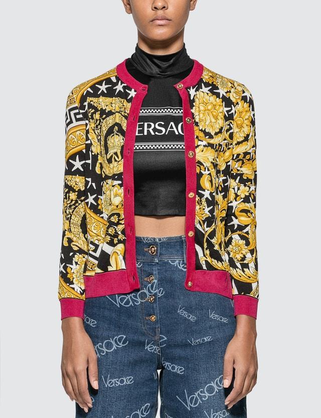 Versace Savage Barocco Motif Cardigan