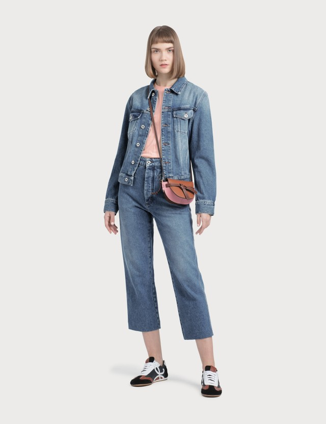 Loewe Denim Jacket Washed Denim Women