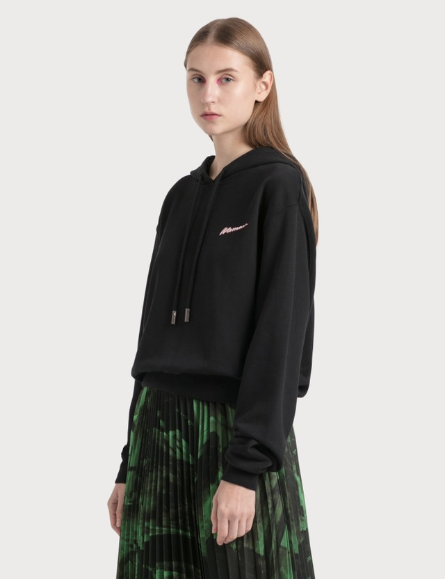 Off-White Woman Cropped Hoodie