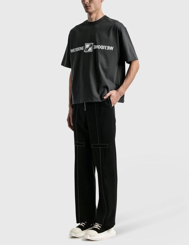 We11done Mirror Logo T-shirt Charcoal Men