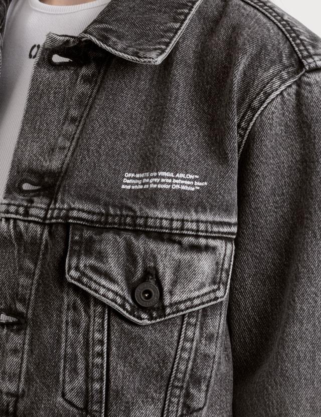 Off-White Washed Effect Denim Jacket