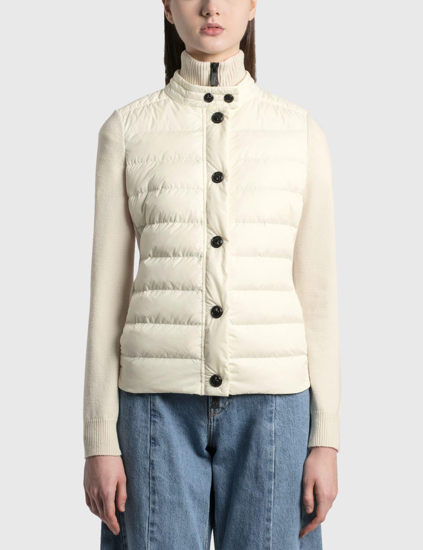 Padded Knit Zipped Jacket
