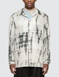 Sasquatchfabrix. Oriental Tie Dye Open Collar Long Sleeve Shirt Picture