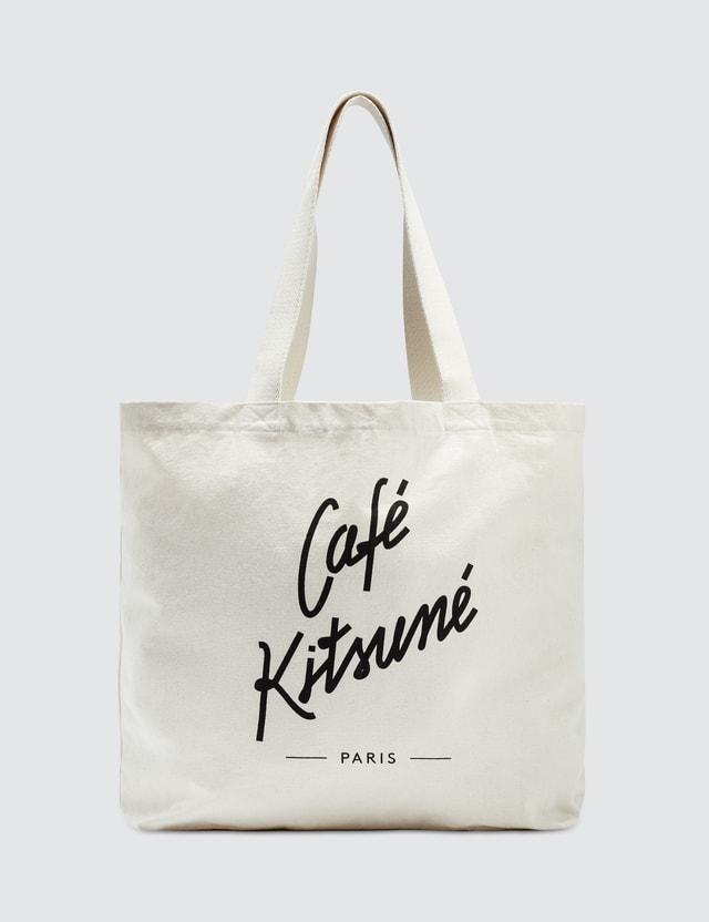 Maison Kitsune Cafe Kitsune Tote Bag