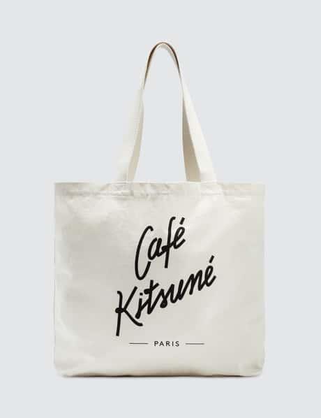 메종 키츠네 Maison Kitsune Cafe Kitsune Tote Bag