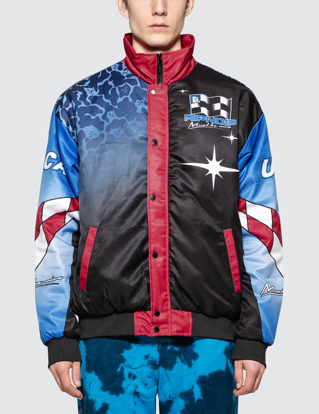 RIPNDIP Nascar Nerm Puffy Racing Jacket Multi Men