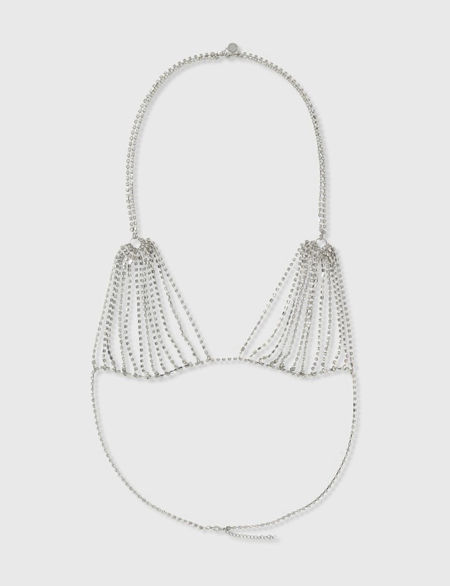 Random Identities Crystal Bra Necklace