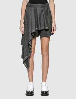 Alexander McQueen Wool Shorts With Pleated Panel