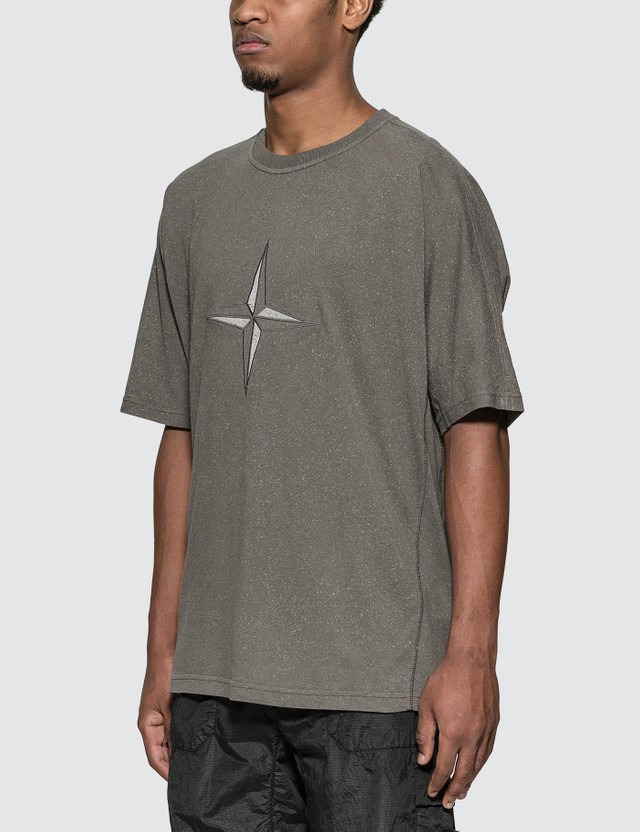 Stone Island Compass Logo T-Shirt Blue Grey Men