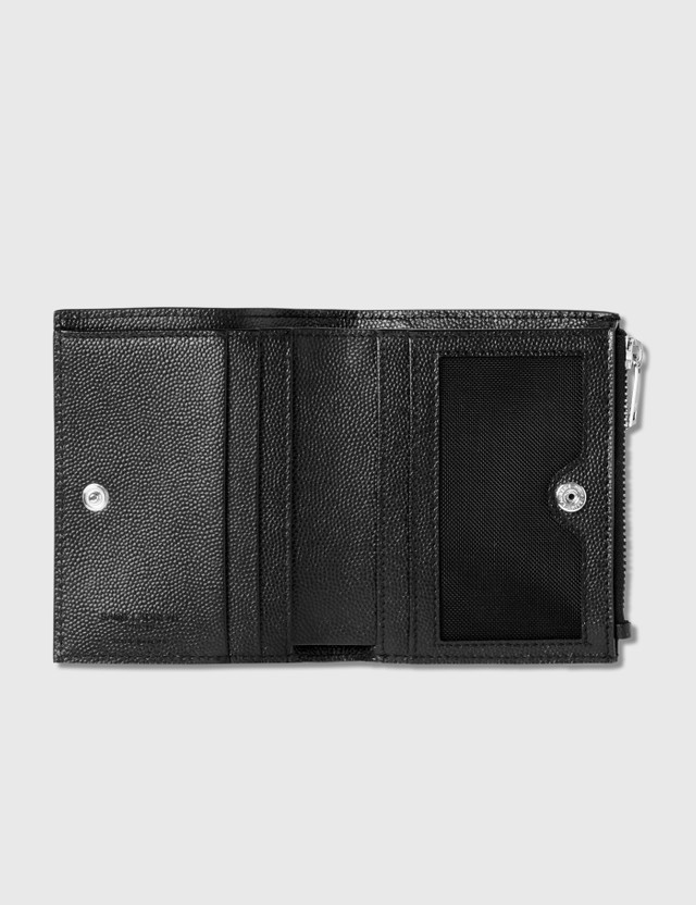 Saint Laurent Grain Leather Zipped Card Holder