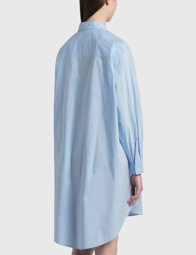 MM6 Maison Margiela Motocross Logo Shirt Dress Sky Blue Women