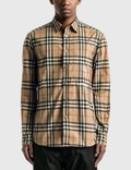 Burberry Classic Fit Zebra Appliqué Check Cotton Shirt Picutre