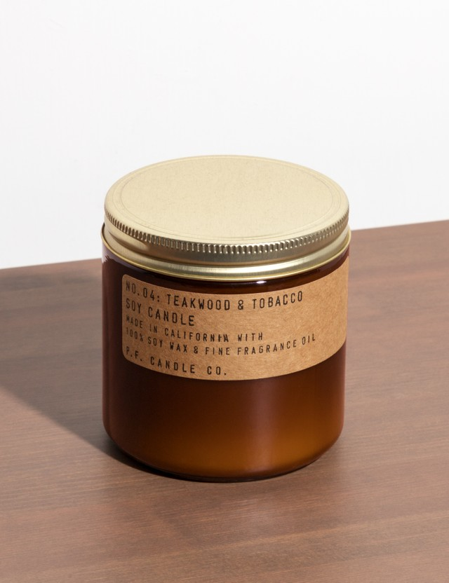 P.F. Candle Co. Teakwood & Tobacco Large Soy Candle N/a Unisex