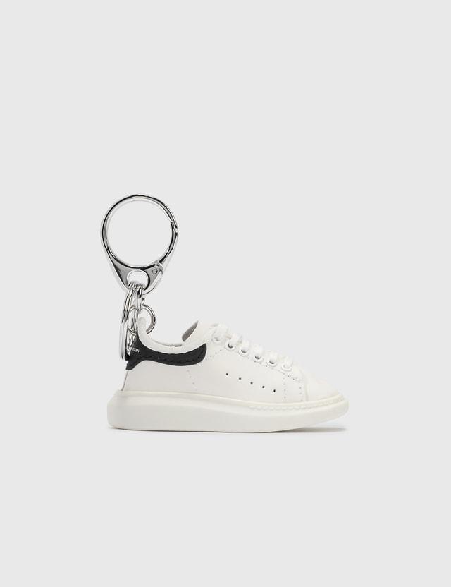 Alexander McQueen Oversized Sneaker Keyring White/black Men