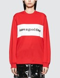 Have A Good Time Panel Jersey Long Sleeve T-shirt Picutre