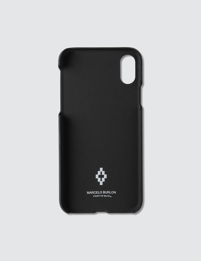Marcelo Burlon 블랙 윙스 아이폰 Xs 케이스