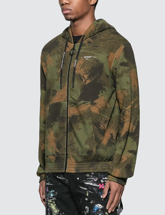 Off-White Paintbrush Zip Hoodie