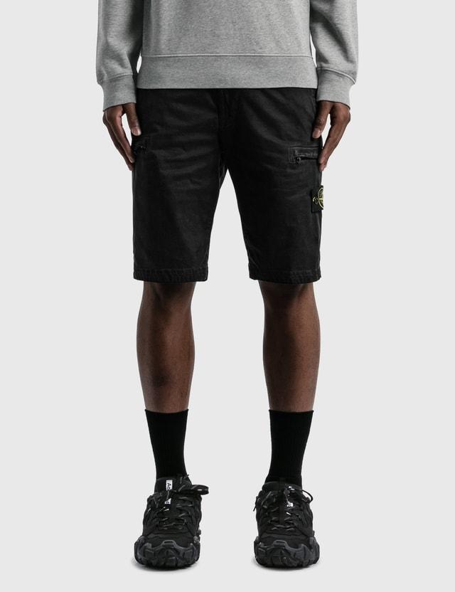 Stone Island Cargo Shorts Black Men