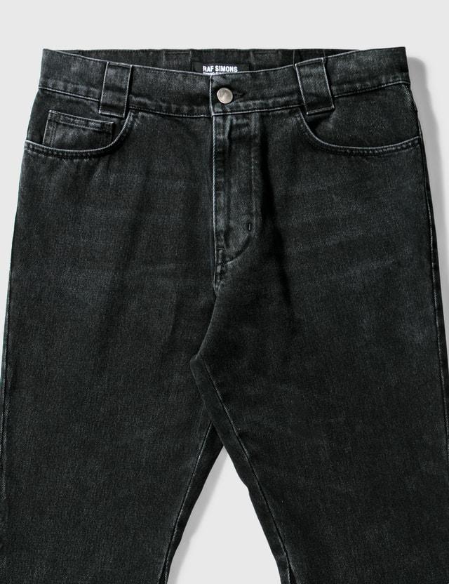 Raf Simons Flared Denim Workwear Pants Black Men