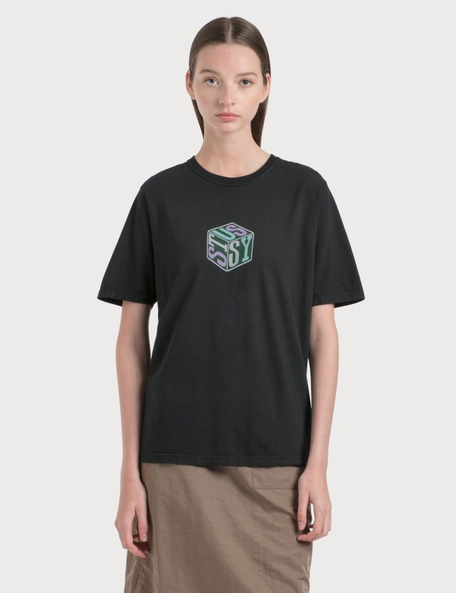 Stussy Cube Pigment Dyed T-Shirt Black Women
