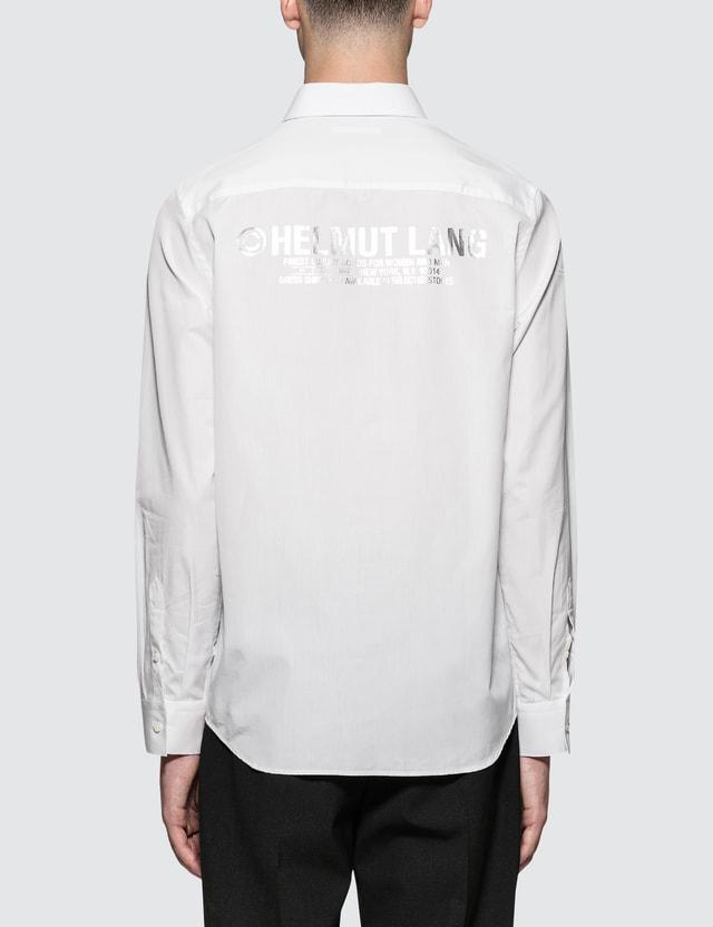 Helmut Lang Printed Poplin Shirt
