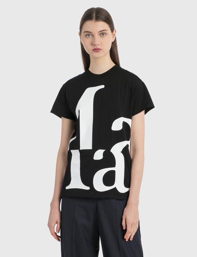 Maison Margiela Marg' 로고 티셔츠 Black Women