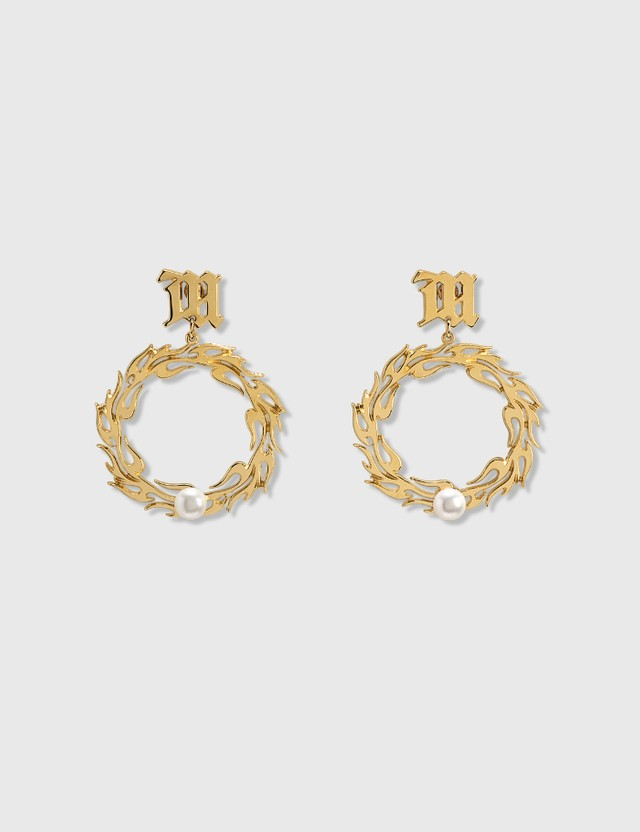 Misbhv Tribal Circle Pearl Earrings Gold Women